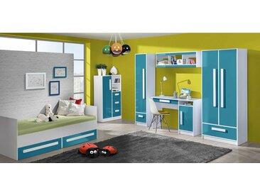 Stylefy Goldie Kinderzimmer-Set II Weiß Türkis