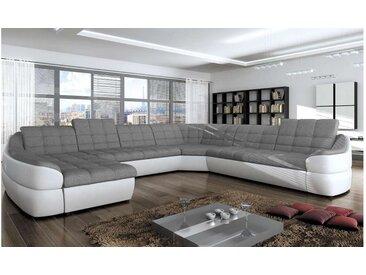 Stylefy INFINITY XL Wohnlandschaft Weiß Grau