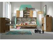 Narin Kinderzimmer-Set V Eiche Artisan Dekor Weiß Matt Schwarz Matt
