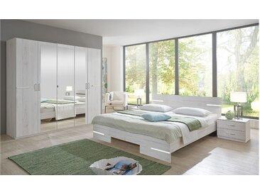 Stylefy Louise Schlafzimmerset Eiche Bianco
