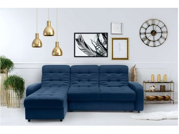 Stylefy Adrien Ecksofa Blau