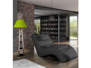 Stylefy LOS ANGELES Liege 75x172x92 cm Schwarz