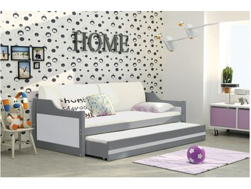 Stylefy Tore Funktionsbett 90x200 cm Graphit Weiß