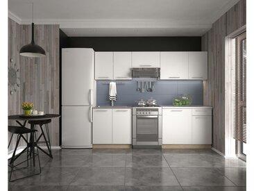 Stylefy Daria 240 Küchenzeile Weiß Eiche