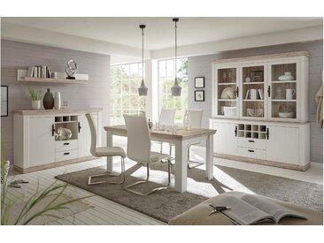 Stylefy Samwell Wohnzimmerset Pinie Weiß | Pinie