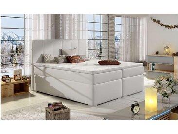 Stylefy Jupiter Boxspringbett Weiß 140x200 cm