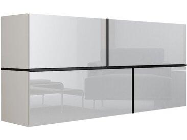Stylefy Goyo Kommode 80x170x40 cm Weiß Schwarz