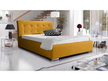 Stylefy Arlanda Polsterbett 120x200 cm Velours Gelb