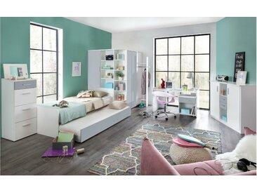 Stylefy Lio Kinderzimmer-Set I Weiß Hellgrau