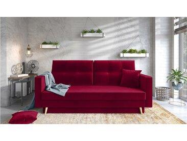 Stylefy Tergola Einzelsofa Rot Velours