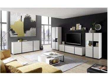 Stylefy Kairo Wohnzimmerset IV Weiß Matt Grau
