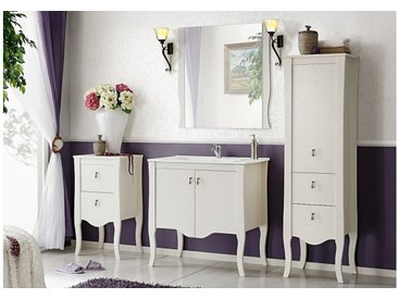 Stylefy Gloriana Badezimmerset Weiß