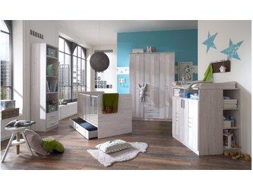 Stylefy Jasmin Kinderzimmer-Set Eiche Bianco