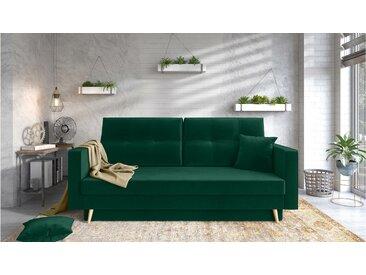 Stylefy Tergola Einzelsofa Grün Velours