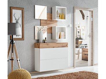 Stylefy Arno Garderobenset Wotan Eiche Weiß
