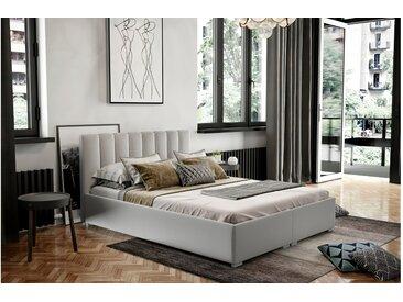 Stylefy Canella Polsterbett Kunstleder 200x200 cm Weiß