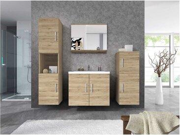 Stylefy Miri Badezimmerset 4-teilig Eiche