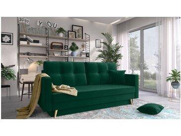 Stylefy Talvera Einzelsofa Grün Velours