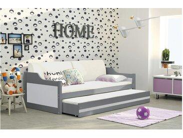 Stylefy Tore Funktionsbett 80x190 cm Graphit Weiß