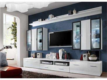 Stylefy ICALIND Wohnwand 190x300x45 Weiß