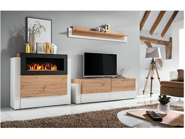 Stylefy Aurora Wohnwand Eiche Bianco