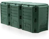 Prosperplast MODULE COMPOGREEN 1200L Schnellkomposter Gartenkomposter grün IKSM1200Z-G851