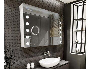 Spiegelschrank mit LED Beleuchtung L06 Alpines Weiß
