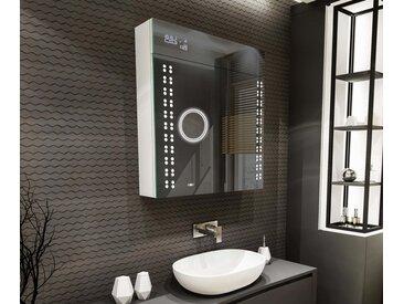 Spiegelschrank mit LED Beleuchtung L55 Alpines Weiß