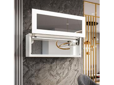 Die LED - glasvitrine für das wohnzimmer - manuelle öffnung