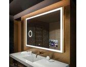 BADSPIEGEL MIT LED BELEUCHTUNG L01 MIT Lichtschalter, SmartScreen und Kosmetikspiegel