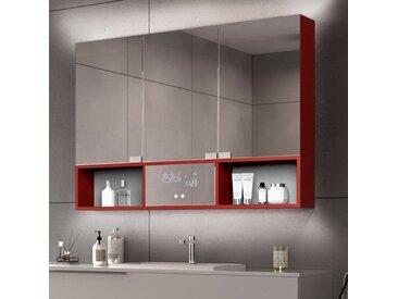 Bad Spiegelschrank Emma mit LED Beleuchtung - 3-türig