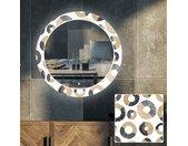 Rund hinterleuchteter dekorativer Spiegel LED für Wohnzimmer - Donuts