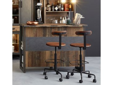 Bar Theke Anrichte Prime | Old Used Wood / Matera grau | Shabby Look