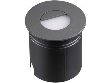LED-Einbauleuchte Aspen mit Diffusor, rund, grau