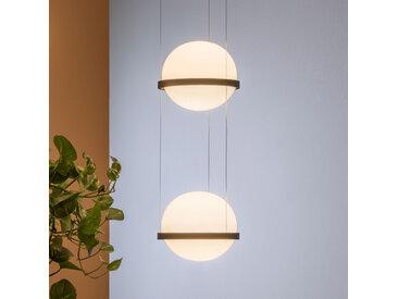 Vibia Palma 3726 LED-Hängelampe 2-flammig, graphit
