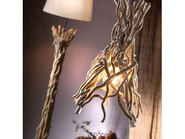 Hängeleuchte Agar mit Schirm aus Holz