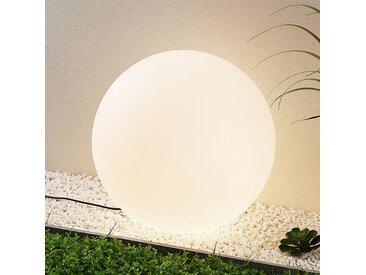 Prios Senadin Leuchtkugel, weiß, IP54, 60 cm