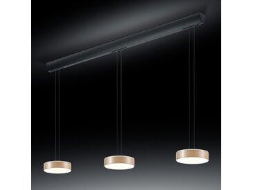 BANKAMP Tondo LED-Hängelampe dreiflammig roségold