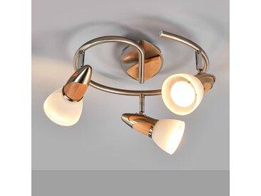 """LED Deckenleuchte """"Marena"""", u.a. für Flur aus Glas in Alu von """"Lindby"""" (3 flammig, E14, A+)"""
