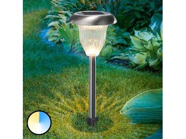 """Solarleuchten """"Flower Light"""" aus Edelstahl in Alu von """"Esotec"""", IP44 (2 flammig, A+)"""