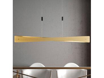 Lucande Lian LED-Hängelampe, messing, schwarz