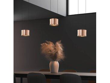 BANKAMP Impulse LED-Hängelampe 3-flammig roségold