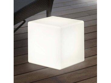"""Solarleuchte außen """"Shining Cube"""" aus Kunststoff in Weiß von """"8 Seasons"""", IP44 (1 flammig, A)"""