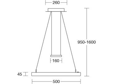 HerzBlut Leonora LED-Hängelampe KlickDim Eiche