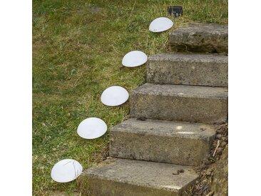 LED-Solarleuchtenset Kuppel mit Erdspießen
