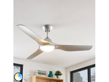 Arcchio Pira LED-Deckenventilator, 3 Flügel silber