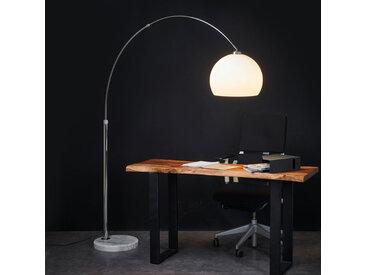 """Stehlampe (Bogenleuchte) """"Fjella"""", u.a. für Wohn & Esszimmer aus Metall in Weiß von """"Lindby"""" (1 flammig, E27, A++)"""