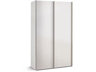 Mehrzweckschrank 2-trg. in weiß mit 2 Einlegeböden, Maße: B/H/T ca. 125/216/48 cm