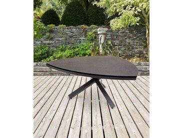 Gartentisch mit einem Gestell aus Aluminium in anthrazit und einer Spraystone Tischplatte, Maße: B/H/T ca. 170/74/170 cm
