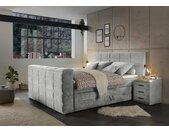 Boxspringbett in schlamm, motorisierte TV-Halterung, Bettkästen, 7-Zonen Tonnentaschenfederkern-Matratzen und mit mit Kaltschaumtopper, 180x200 cm